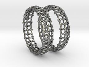 Openwork Hoops - Earrings in Polished Silver