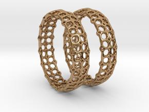 Openwork Hoops - Earrings in Polished Brass