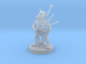 Kobold Bard with Bagpipes in Smooth Fine Detail Plastic