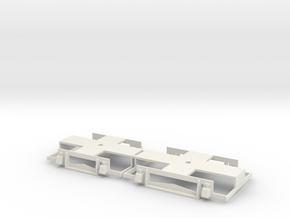 0-43-gcr-petrol-railcar-bogies in White Natural Versatile Plastic