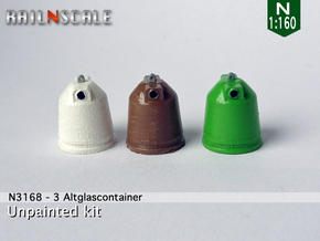 3 Altglascontainer (N 1:160) in Smooth Fine Detail Plastic