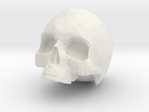 HUMAN SKULL in White Strong & Flexible: Small