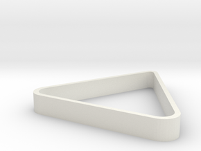 _3_Wheeldisplay-triangel in White Natural Versatile Plastic