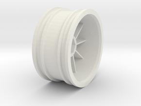 959-rim - TT01 in White Premium Versatile Plastic