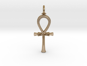 Ancient Egyptian Ankh pendant in Polished Gold Steel