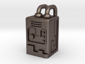 Gobot Portable Stealth Device in Polished Bronzed Silver Steel: Small