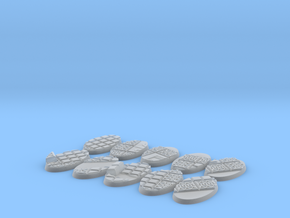 10X Lizard men 60-35mm bases in Smooth Fine Detail Plastic