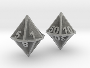D10/100 Set - Plunged Sides in Metallic Plastic