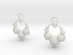 Jk OS Earrings in White Natural Versatile Plastic