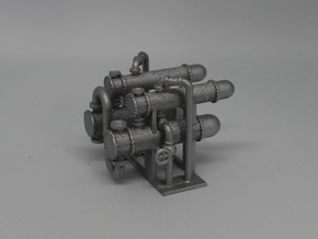 N Scale Heat Exchanger #4 2x2 in Frosted Ultra Detail
