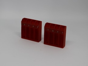 HO Fire Station Lockers in Smooth Fine Detail Plastic