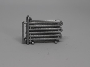 N Scale Double Pipe Heat Exchanger in Smooth Fine Detail Plastic