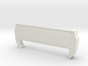 Bed Extension -12.3 In. Wheelbase for RC4WD Blazer in White Natural Versatile Plastic