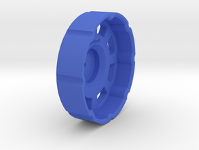 Winder coupler - 51.6mm version in Blue Processed Versatile Plastic
