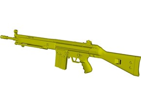 1/10 scale Heckler & Koch G-3A3 rifle A x 1 in Smooth Fine Detail Plastic