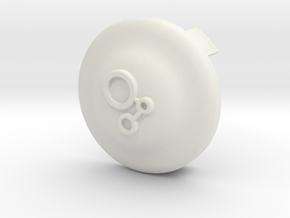 Vanagon Custom Carrot Billet Center Caps in White Natural Versatile Plastic