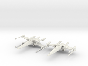 T-65 X-Wing Starfighter in White Strong & Flexible