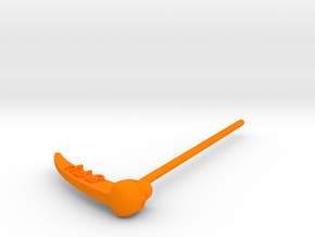 Time Traveler Zodiac Scythe in Orange Processed Versatile Plastic
