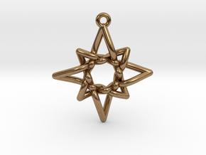 Navigator Pendant in Natural Brass