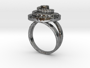 Concentrico- Anello Spirale 2 - Spiral Ring in Fine Detail Polished Silver