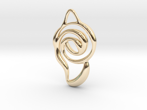 Achieve unity  in 14k Gold Plated Brass