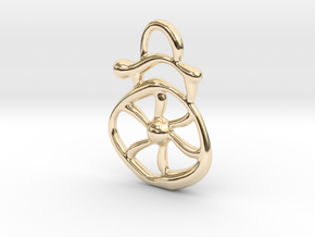 Electric wind  in 14k Gold Plated Brass