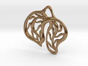 Leaves in Natural Brass