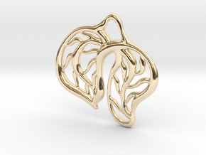 Leaves in 14k Gold Plated Brass