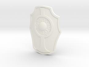 GalaxyWarriorsShield1VintageSize in White Processed Versatile Plastic