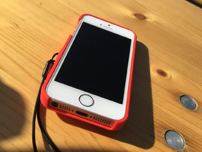 iPhone 5S & SE Garmin Mount Case in Red Processed Versatile Plastic