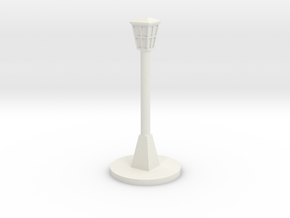 Lamp post in White Natural Versatile Plastic