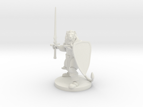 Lionfolk Paladin in White Natural Versatile Plastic