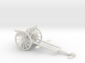 1/48 IJA Type 41 75mm Mountain Gun in White Natural Versatile Plastic