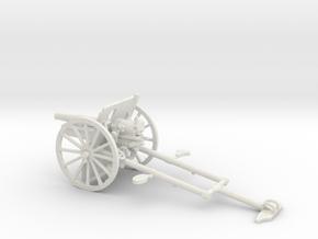 1/48 IJA Type 41 75mm Mountain Gun in White Natural Versatile Plastic