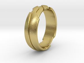 GD Ring - Edge in Natural Brass: 1.5 / 40.5