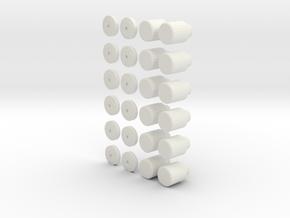 Darth Vader Belt Boxes Knobs in White Natural Versatile Plastic