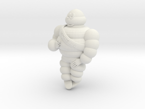 Michelin man 1/10 in White Natural Versatile Plastic
