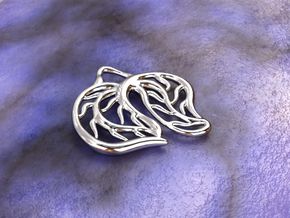 Leaves in Polished Silver