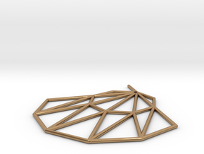 Low poly Doyenne Earring in Polished Brass