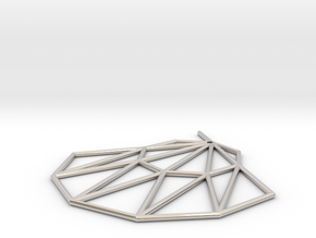 Low poly Doyenne Earring in Rhodium Plated Brass