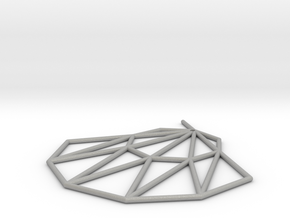 Low poly Doyenne Earring in Aluminum