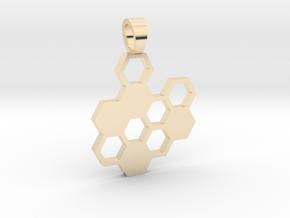 Hexa board  [pendant] in 14K Yellow Gold