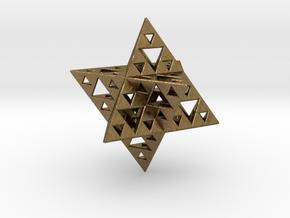 Sierpinski Merkaba IV level 3 1.5 cm (downloadable in Natural Bronze