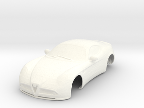 Alfa 8C slot car 1/32 in White Strong & Flexible Polished: 1:32