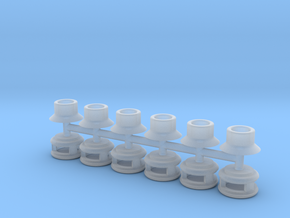 Steam Generator Vents (N - 1:160) 6X in Smoothest Fine Detail Plastic