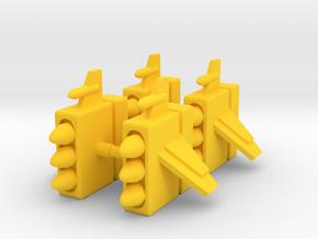 Centaurus Missile Pods in Yellow Processed Versatile Plastic: Medium