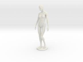 Female form robotic anatomy 12cm in White Natural Versatile Plastic