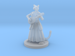 Catfolk Female Bard in Smooth Fine Detail Plastic