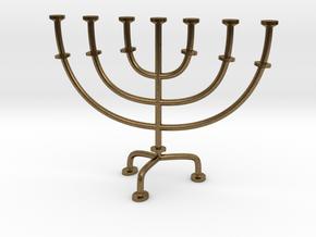 Menorah chandelier 1:12 scale model V2 in Natural Bronze