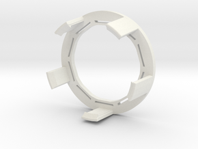 FlexRing for BluCon - No armband needed! in White Premium Versatile Plastic